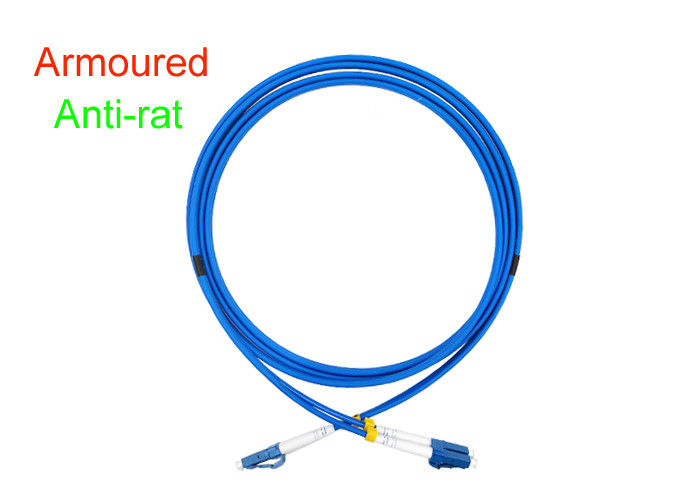 Armoured Duplex Fiber Optical Patch Cord Indoor 3.0 SOS DX LC/UPC Connector